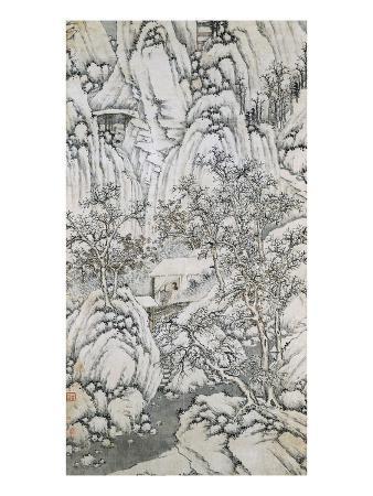 shen-zhou-bottom-half-of-mountain-stream-under-snow