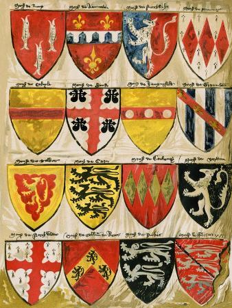 shields-of-english-knights-and-barons-painted-during-the-reign-of-edward-iii
