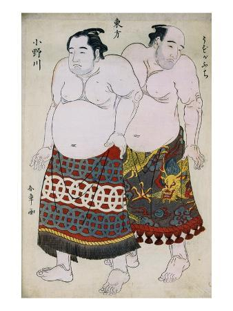 shunsho-full-length-portraits-of-wrestlers-from-the-eastern-group-uzugafuchi-on-the-right-and-onogawa-on-t