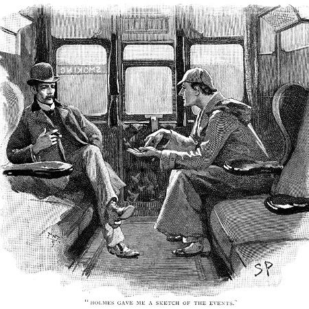 sidney-e-paget-the-adventure-of-silver-blaze-holmes-and-watson-on-train