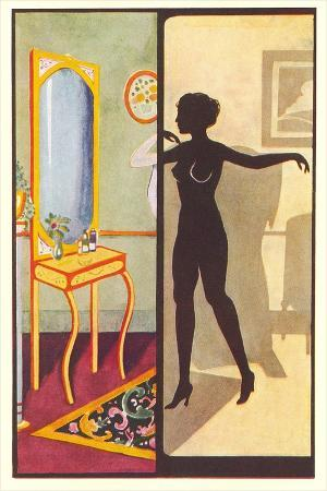 silhouette-of-nude-dressing