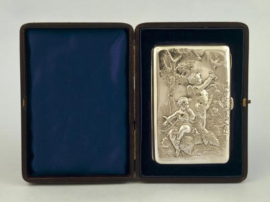 silver-visiting-cards-holder-with-mythological-decoration