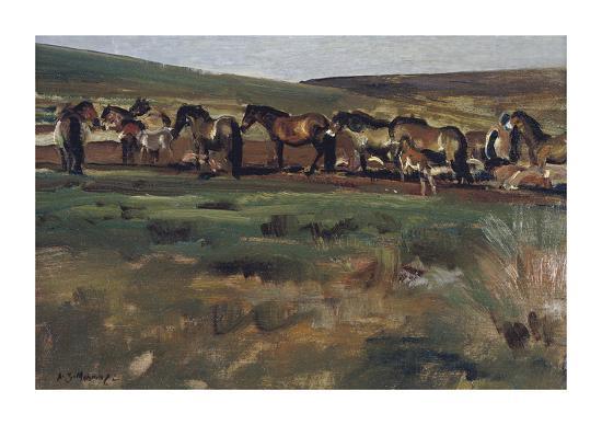 sir-alfred-munnings-exmoor-ponies