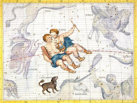sir-james-thornhill-constellation-of-gemini-with-canis-minor-plate-13-from-atlas-coelestis