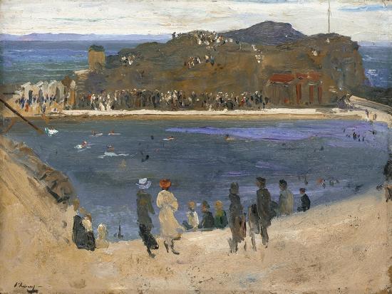 sir-john-lavery-the-bathing-pool-north-berwick-1919