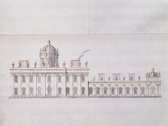 sir-john-vanbrugh-castle-howard-yorkshire-a-schematic-pencil-sketch-showing-the-development-of-the-forecourt