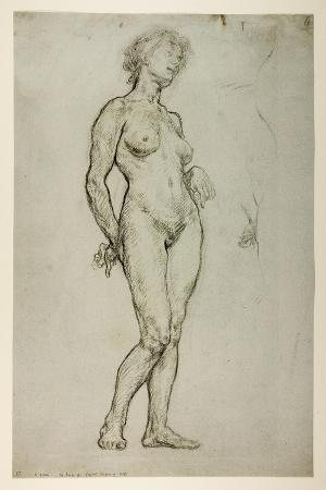 sir-william-orpen-study-of-a-female-figure-1898