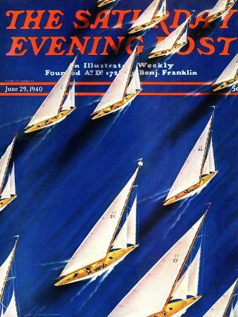 ski-weld-sailboat-regatta-saturday-evening-post-cover-june-29-1940