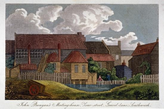 south-east-view-of-john-bunyan-s-meeting-house-southwark-london-c1810