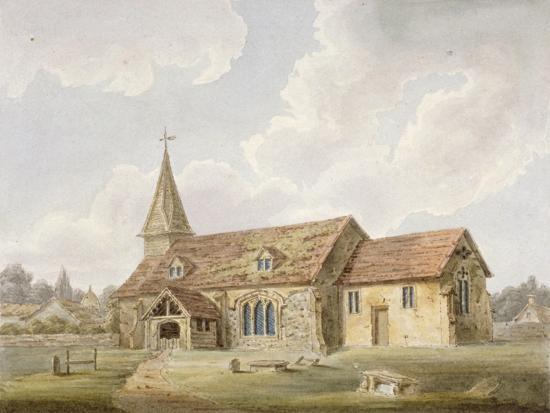 south-west-view-of-holy-cross-church-greenford-middlesex-c1825