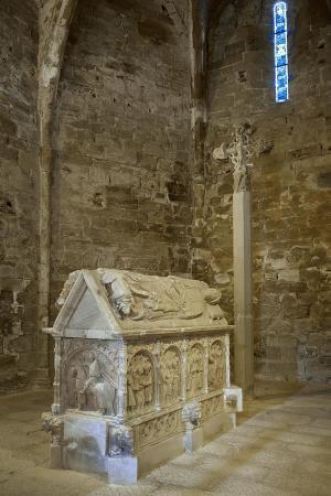 spain-catalonia-church-of-st-maria-de-bell-lloc-tomb-of-pere-v-of-queralt-and-alamanda-rocabert