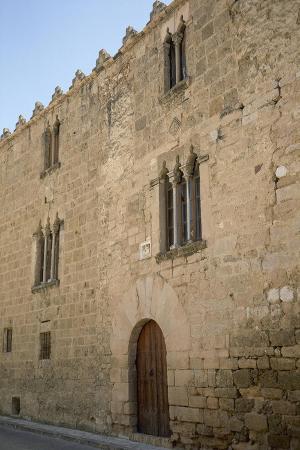 spain-sant-pere-de-riudebitlles-palace-of-the-marquises-of-llio-facade