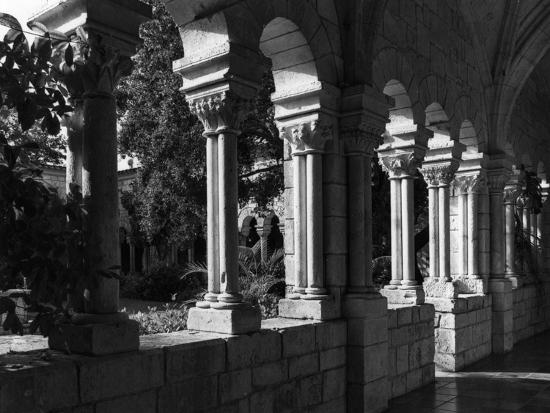 spanish-monastery-cloister-c-1960