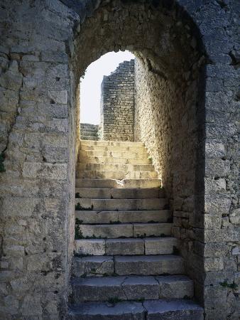 staircase-leading-inside-baths-of-licinius-at-ruins-of-thugga-or-dougga