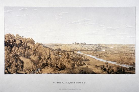 standidge-co-view-of-windsor-castle-from-egham-hill-berkshire-1851