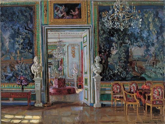 stanislav-yulianovich-zhukovsky-interior-in-the-kuskovo-palace-1917