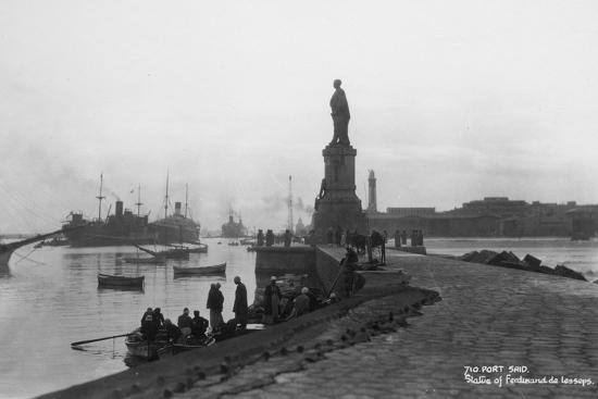 statue-of-ferdinand-de-lesseps-port-said-egypt-c1920s-c1930s