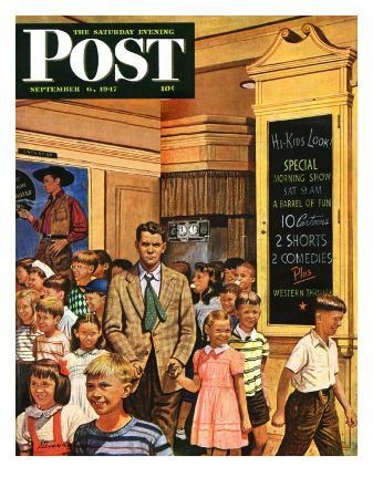 stevan-dohanos-after-the-movie-saturday-evening-post-cover-september-6-1947
