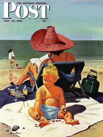stevan-dohanos-baby-nail-polish-saturday-evening-post-cover-july-22-1950