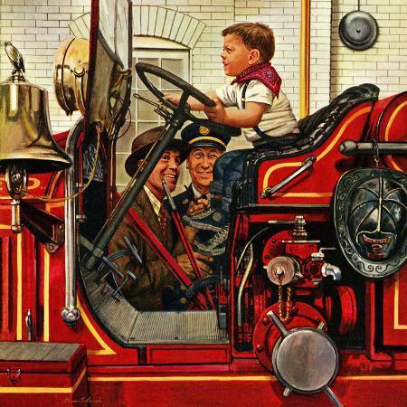 stevan-dohanos-boy-on-fire-truck-november-14-1953