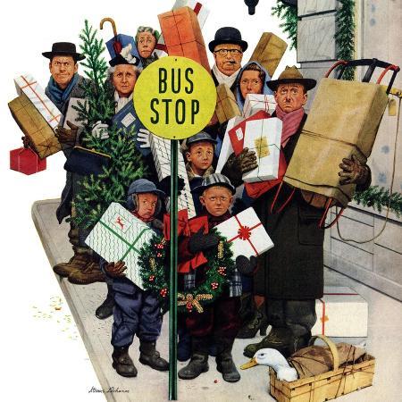stevan-dohanos-bus-stop-at-christmas-december-13-1952