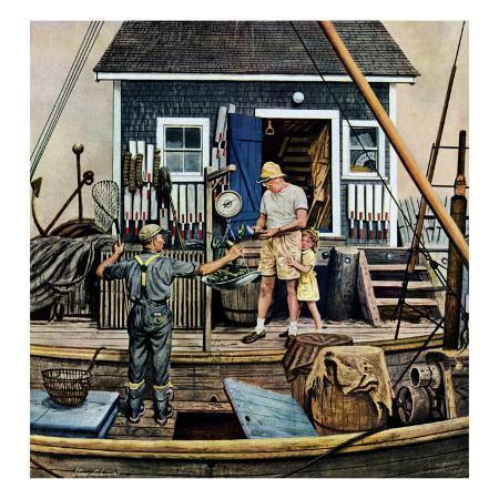 stevan-dohanos-buying-lobsters-july-2-1949