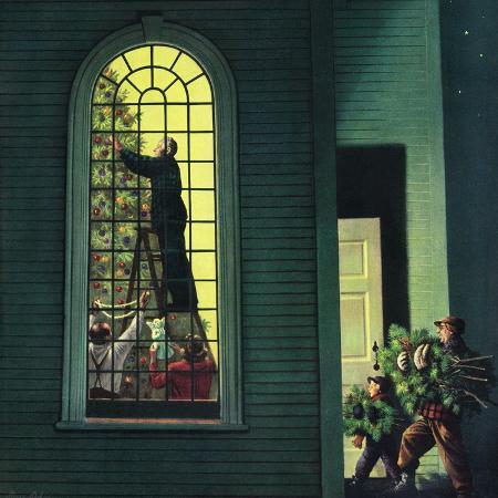 stevan-dohanos-church-christmas-tree-december-27-1952