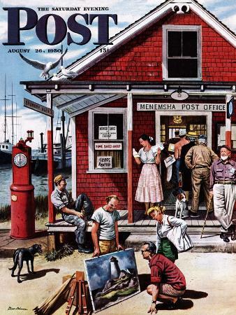 stevan-dohanos-coastal-postal-office-saturday-evening-post-cover-august-26-1950