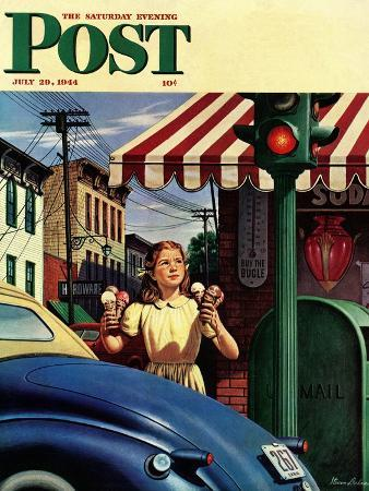 stevan-dohanos-dripping-cones-saturday-evening-post-cover-july-29-1944