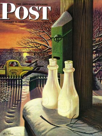stevan-dohanos-frozen-milk-saturday-evening-post-cover-january-8-1944