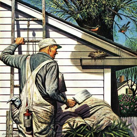 stevan-dohanos-housepainter-and-bird-s-nest-may-12-1945
