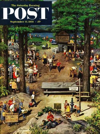 stevan-dohanos-labor-day-picnic-saturday-evening-post-cover-september-11-1954