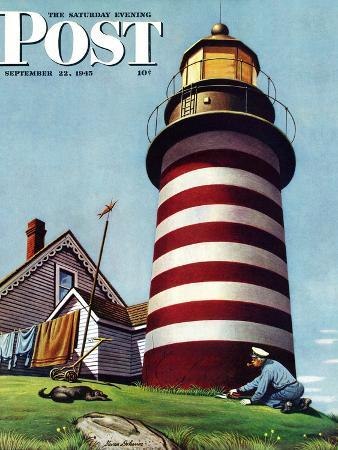 stevan-dohanos-lighthouse-keeper-saturday-evening-post-cover-september-22-1945