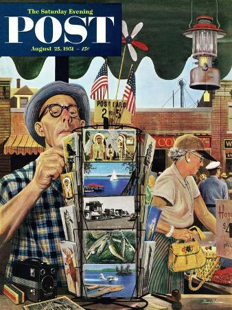 stevan-dohanos-postcards-saturday-evening-post-cover-august-25-1951