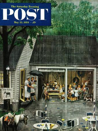 stevan-dohanos-rain-out-birthday-party-saturday-evening-post-cover-may-22-1954