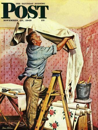 stevan-dohanos-renegade-wallpaper-saturday-evening-post-cover-november-26-1949