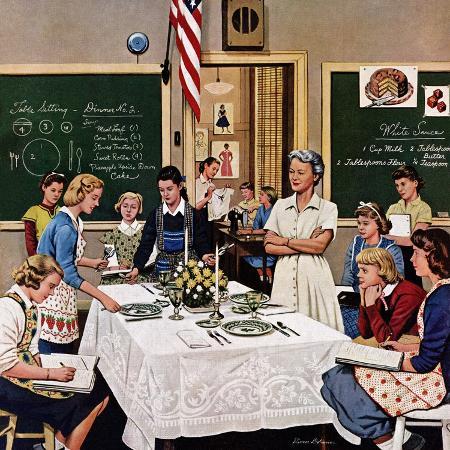 stevan-dohanos-setting-the-table-february-16-1957