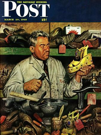 stevan-dohanos-shoe-repairman-saturday-evening-post-cover-march-20-1948