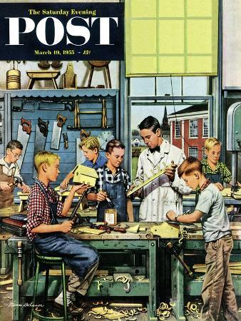 stevan-dohanos-shop-class-saturday-evening-post-cover-march-19-1955
