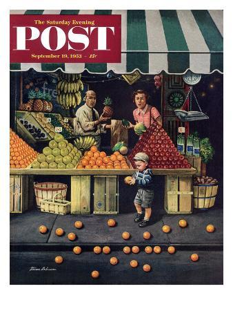 stevan-dohanos-towddler-and-oranges-saturday-evening-post-cover-september-19-1953