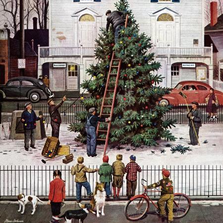 stevan-dohanos-tree-in-town-square-december-4-1948