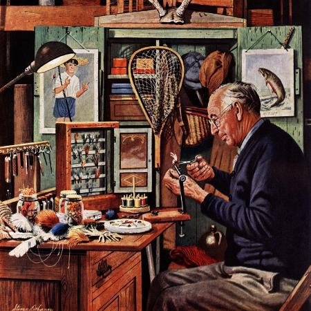 stevan-dohanos-tying-flies-march-4-1950