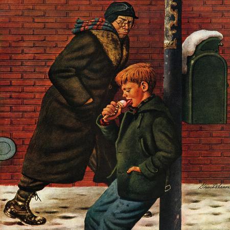 stevan-dohanos-winter-ice-cream-cone-february-8-1947