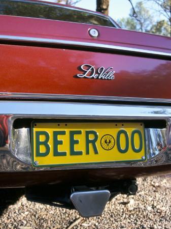steve-ann-toon-car-registration-plate-beer-south-australia-australia
