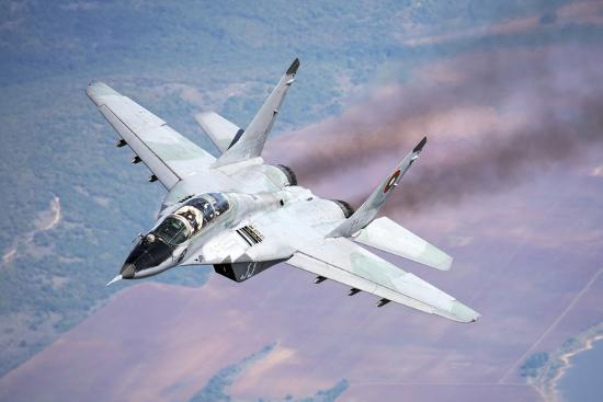stocktrek-images-a-bulgarian-air-force-mig-29s-during-a-training-mission-over-bulgaria