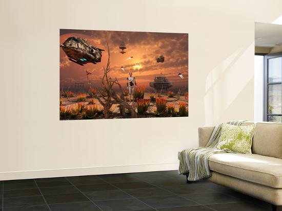 stocktrek-images-a-futuristic-military-outpost-on-the-moon-of-a-distant-alien-world