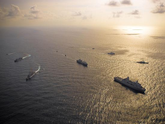 stocktrek-images-a-multi-national-naval-force-navigates-the-waters-of-the-caribbean-sea