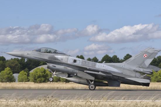 stocktrek-images-a-polish-air-force-f-16-block-52-at-albacete-air-base-spain
