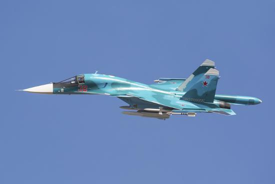 stocktrek-images-a-russian-air-force-su-34-in-flight-over-russia
