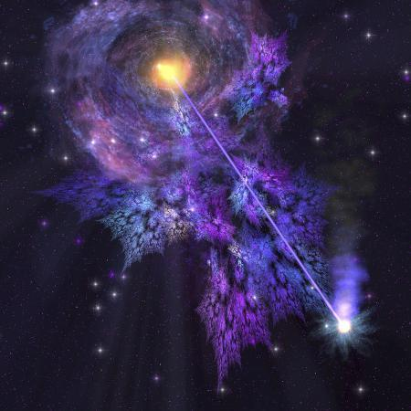 stocktrek-images-a-shooting-star-radiates-out-from-a-black-hole-in-the-center-of-a-galaxy